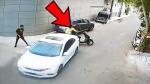 होंडा सिटी ने 2 युवकों को कुचलने की कोशिश की, वीडियो देख कांप जाएगी आपकी रूह