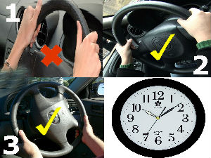 How Hold Car Steering Wheel Driving Tips Aid0154