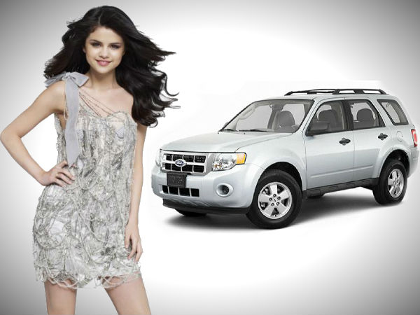 hot selena gomez owns ford escape