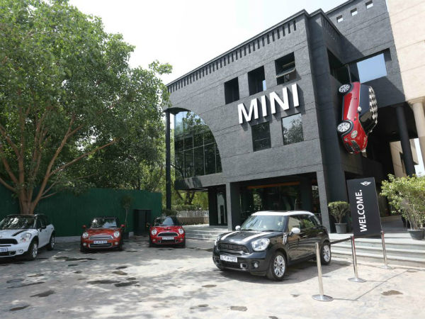 bmw mini start first showroom delhi