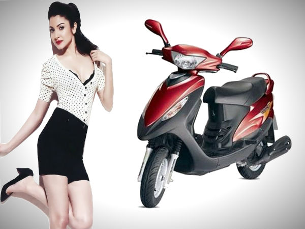 anushka sharma endorse tvs scooty