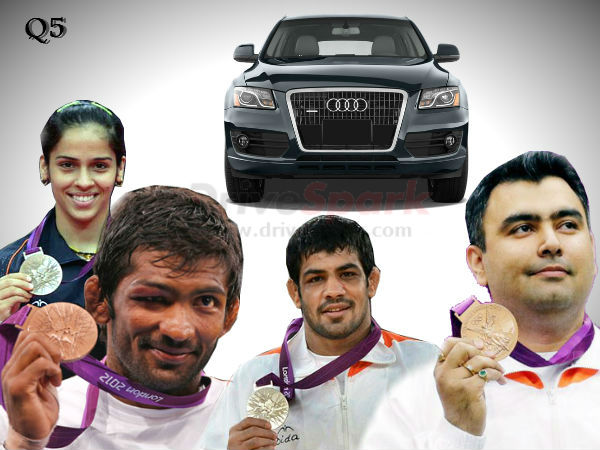 four olympic medal winners get audi q5