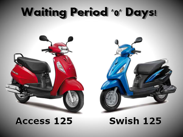 no waiting period for suzuki access swish