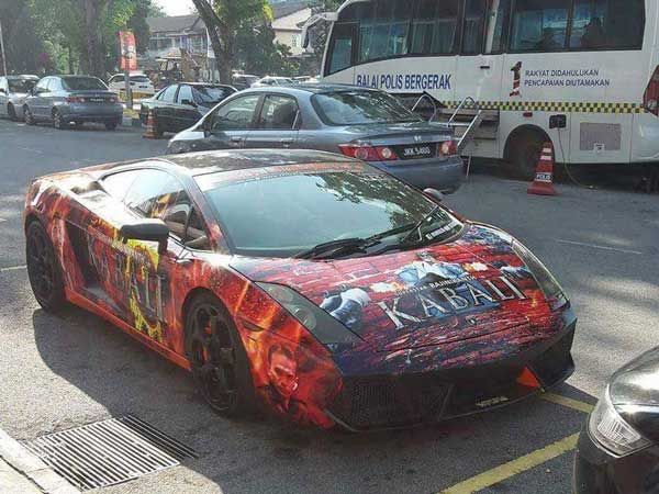 Rajinikanth's Kabali promotion Transforming Even Supercars . Kabali Movie Tickets . Superstar