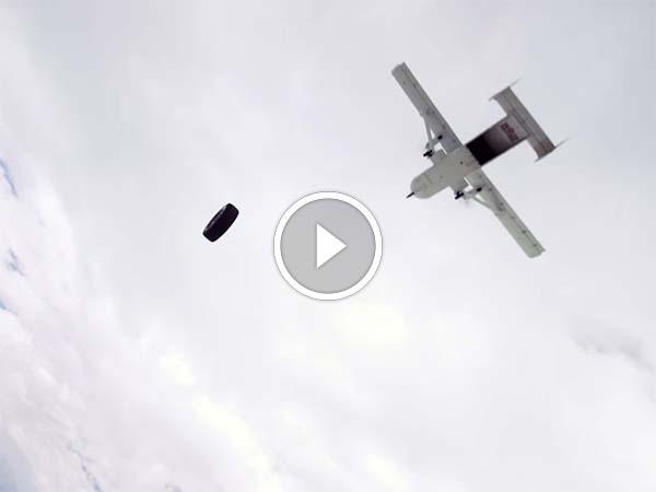 Video में देखिए क्या हुआ जब 10,000 फीट ऊपर से गिराया गया यह टायर