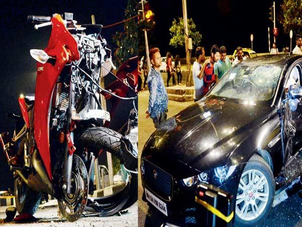 जानिए क्या हुआ जब हुई Honda CBR 250R और Jaguar XE की टक्कर?