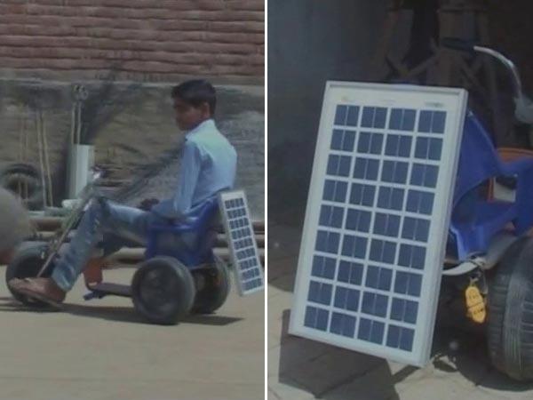 OMG: 13 साल के लड़के ने बनाई Solar Energy से चलने वाली अपनी बाइक