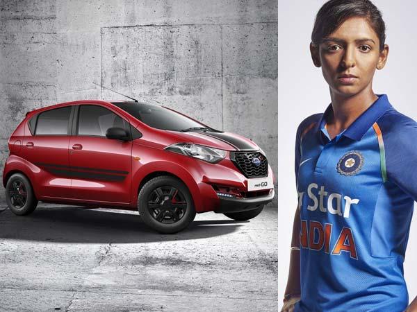 क्रिकेटर हरमनप्रीत कौर को निसान ने गिफ्ट किया डैटसन रेडी-गो