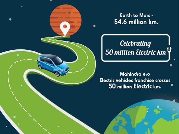 भारतीय सड़कों पर महिन्द्रा की इलेक्ट्रिक कारों ने तय किय़ा 50 मिलियन किमी की दूरी