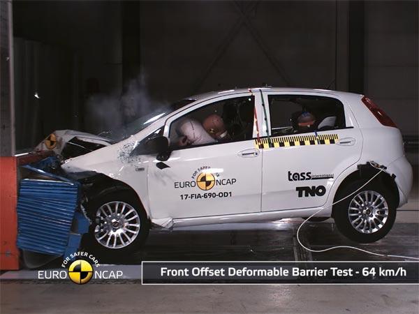 यूरो एनसीएपी क्रैश टेस्ट में बुरी तरह फेल हुई फिएट पुंटो, वीडियो देखिए..