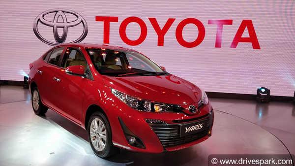 ऑटो एक्सपो 2018: टोयोटा की बहुप्रतीक्षित सेडान कार यारिस भारत में शोकेस