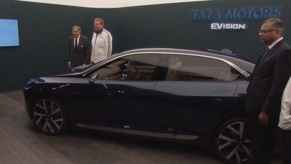 टाटा की महत्वाकांक्षी सिडैन कार ई-विजन कांसेप्ट  जिनेवा मोटर-शो में पेश