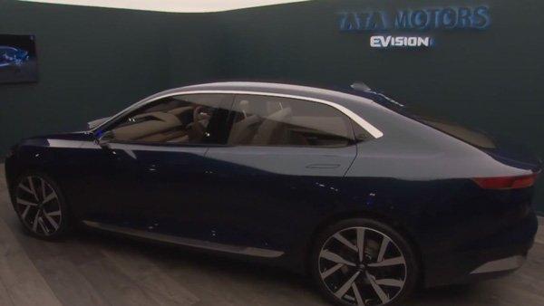 टाटा ने अपनी महत्वाकांक्षी सिडैन कार ई-विजन कांसेप्ट को जिनेवा मोटर-शो में शोकेश किया