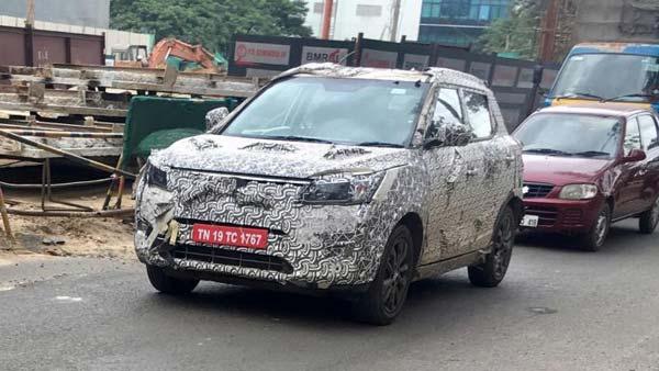 महिंद्रा की अपकमिंग S201 कॉम्पैक्ट-SUV स्पॉट