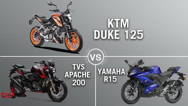 केटीएम 125 ड्यूक, यामाहा आर15 और टीवीएस अपाचे 200 में कौन है सबसे बेहतर?