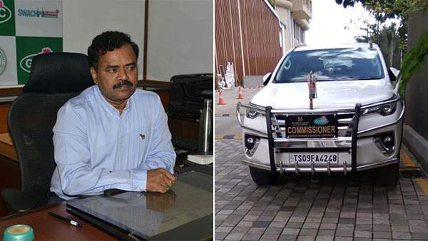 हैदराबाद कमिश्नर पर ओवर स्पीड के लिए लगा जुर्माना, सोशल मीडिया पर वायरल हुई तस्वीरें