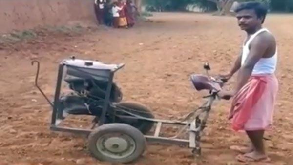 झारखंड के इस व्यक्ति ने स्कूटर से बनाया छोटा ट्रैक्टर, जानिये कैसे किया यह कमाल
