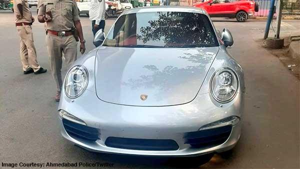 इस स्पोर्ट कार पर पुलिस ने लगाया दस लाख का जुर्माना, बिना नंबर प्लेट के चल रही थी कार