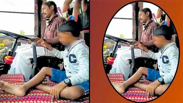 बच्चे से लगवाया चलती बस में गियर, आरटीओ ने जब्त किया लाइसेंस