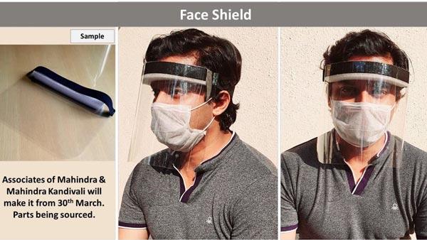 महिंद्रा ने कोरोना वायरस से लड़ने फेस शील्ड का निर्माण किया शुरू, जाने