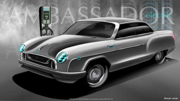 New Hindustan Ambassador EV Renders: यह इलेक्ट्रिक एम्बेसडर नहीं है किसी लग्जरी कार से कम