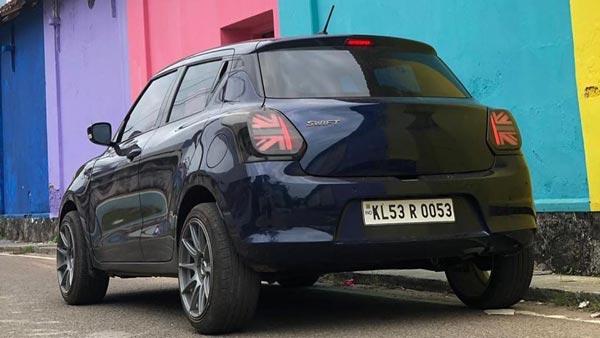 Maruti Swift With Mini Cooper Taillights: मारुति स्विफ्ट में लगाई मिनी कूपर जैसी टेललाइट