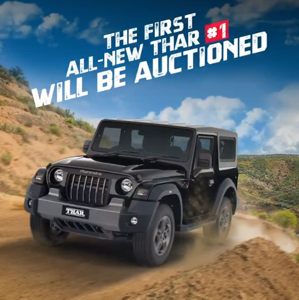 The first unit of 2020 Mahindra Thar sold for Rs 1.1 Crore.