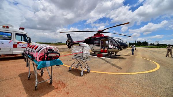अब एयर एम्बुलेंस कोविड-19 मरीजों को जल्द पहुँचाएगी अस्पताल, इस शहर में नई सर्विस हुई शुरू