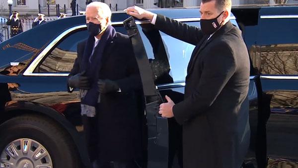 President Car For Biden: अब जो बिडेन करेंगे दुनिया की सबसे सुरक्षित कार की सवारी, पहले दिन ही आये नजर