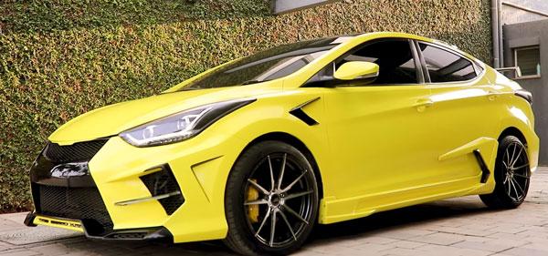 Hyundai Elantra Modification: इस हुंडई एलांट्रा कार से नहीं हटा पाएंगे नजरें, देखें