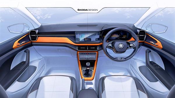 Skoda Kushaq Interior Sketch Released: स्कोडा कुशाक के इंटीरियर का आधिकारिक स्केच जारी, जल्द लॉन्च