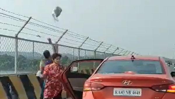 महिला ने कार से नदी में फेंका कचरा, सोशल मीडिया पर वीडियो वायरल हुआ तो पुलिस ने लिया एक्शन