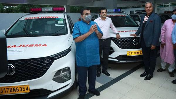 MG Motor ने नागपुर और विदर्भ में दान किए 8 हेक्टर एम्बुलेंस