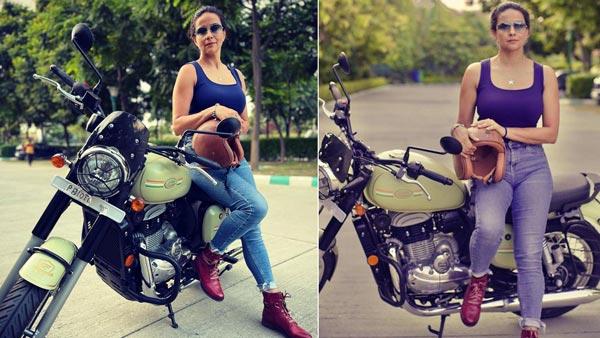 बॉलीवुड एक्ट्रेस Gul Panag ने खरीदी कस्टम Jawa 42 बाइक, Instagram पर शेयर की तस्वीरें