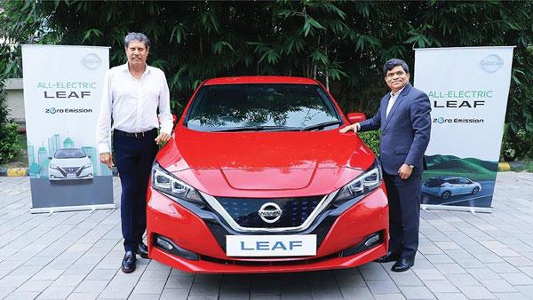 Nissan India presents Leaf EV to previous cricket captain Kapil Dev on World EV Day