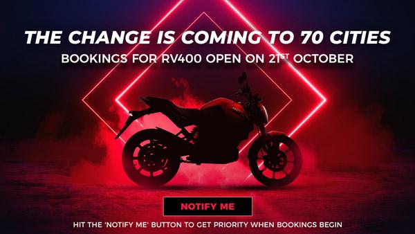 नई Revolt RV400 की बुकिंग फिर से होने वाली है शुरू, 21 अक्टूबर से कर सकेंगे बुक