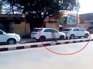आपस में भिड़ गईं इस मुख्यमंत्री के काफिले की चार टोयोटा फॉर्च्यूनर, देखिए वीडियो