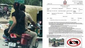 बिना हेलमेट बाइक चलाना इस पुलिस ऑफिसर को पड़ा महंगा