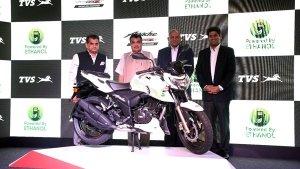न्यू टीवीएस अपाचे आरटीआर 4वी इथेनॉल भारत में लॉन्च, कीमत 1.2 लाख रुपयें