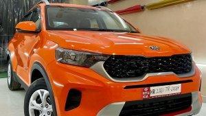Kia Sonet Glossy Orange Body Wrap: इस किया सॉनेट से हटा नहीं पाएंगे नजरें, जानें क्या है खास