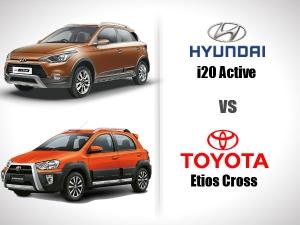 ह्युंडई आई20 एक्टिव बनाम टोयोटा इटिओस क्रॉस