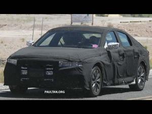 SPY PICS : होंडा एकॉर्ड सेडान की 10वीं जेनरेशन कार को टेस्टिंग के दौरान कैमरे में कैद किया गया