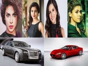 सनी लियोनी से लेकर प्रियंका तक, बॉलीवुड की इन हसीनाओं के पास है इन कारों का कलेक्शन