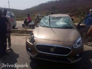 Photos: लॉन्चिंग के पहले दुर्घटनाग्रस्त हुई New Maruti Dzire, निकला