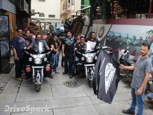 कश्मीर से कन्याकुमारी की यात्रा पर रवाना हुई इंडियन मोटरसाइकिल