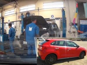 सर्विस के लिए गई थी यह मारूति बलेनो, केवल धुलाई से चलाया काम, देखें वीडियो