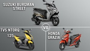 सुजुकी बर्गमैन स्ट्रीट, टीवीएस एनटॉर्क 125 और होंडा ग्राजिया, कौन है बेहतर?