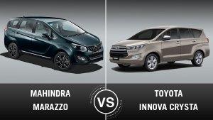 Mahindra Marazzo Vs Toyota Innova Crysta: जानिए कौन है सबसे बेहतर?