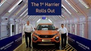 टाटा की दमदार एसयूवी हैरियर का उत्पादन शुरू, प्लांट से बाहर आई पहली गाड़ी