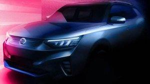 SsangYong E100 Electric Teaser Released: सैंगयोंग ई100 इलेक्ट्रिक एसयूवी का टीजर किया जारी